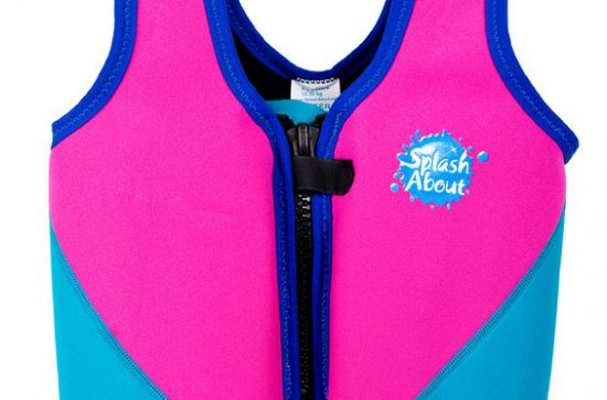 float jacket pink  turquoise-L