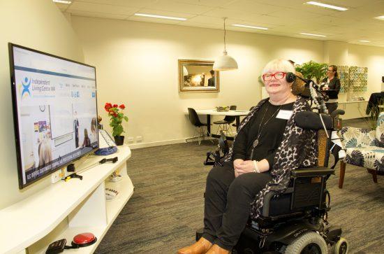 ILC woman in wheelchair