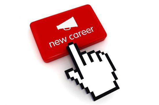 Megaphone message new career recruitment