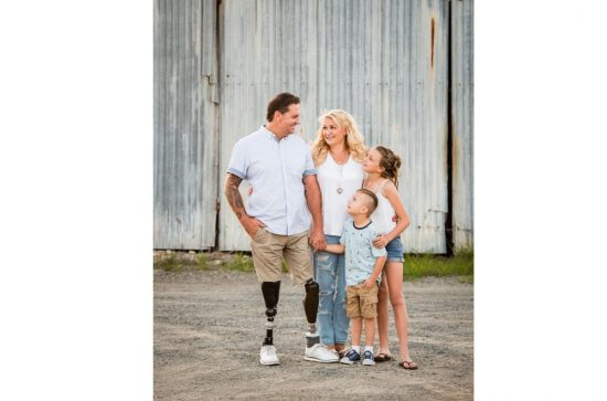 Ben Tullipan with wife Kerrie and children Sheridan and Rory